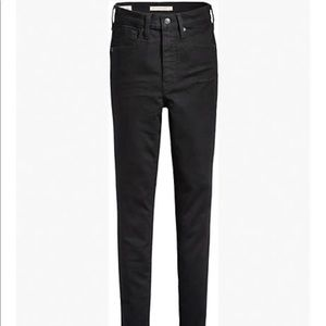 Levi's Mile High Super Skinny Black Jeans 24